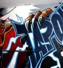 Graffiti Aguila Gimnasio
