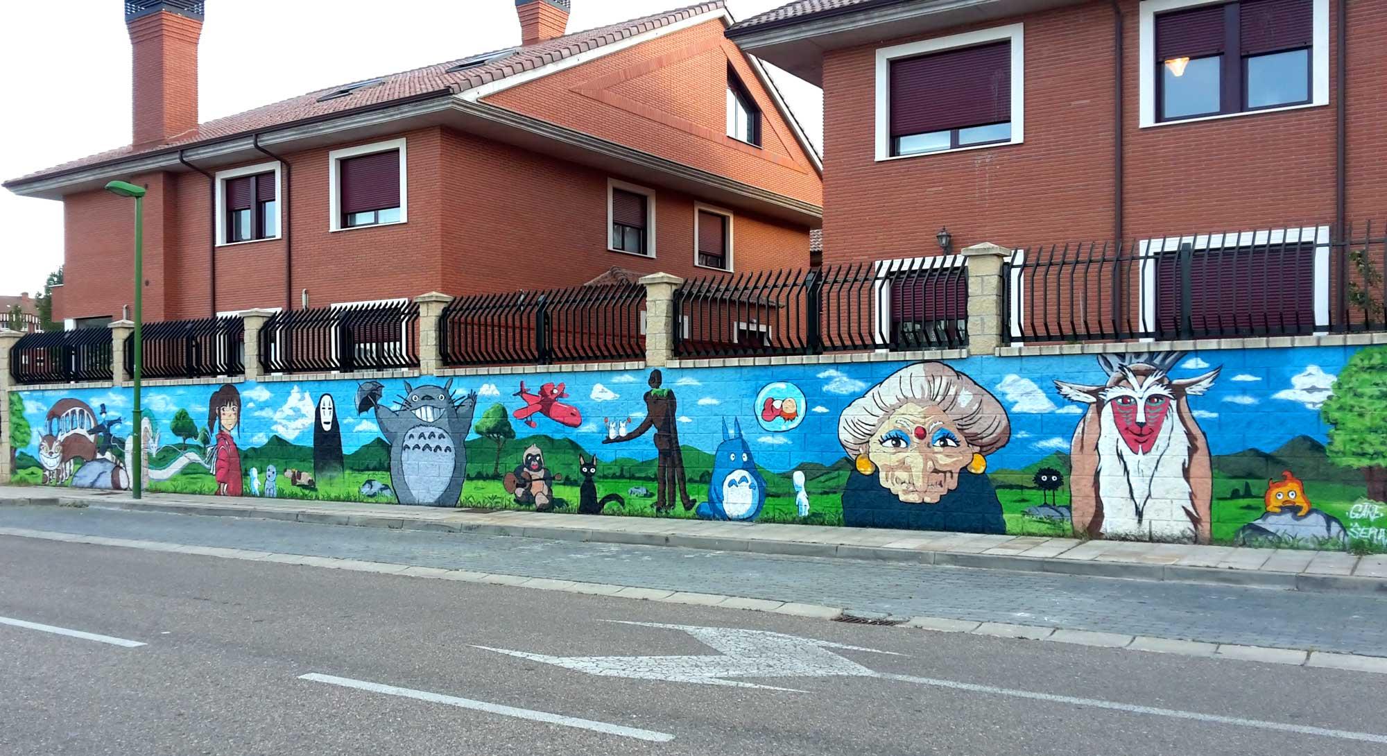 mural ghibli